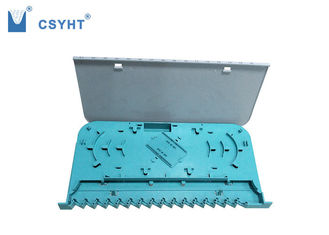 Blue Color Fiber Optic Tray 16 Port Plastic Grey White Cover For Loading SC Adapter